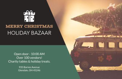 Horizontal Flyer Maker for a Holiday Bazaar 865