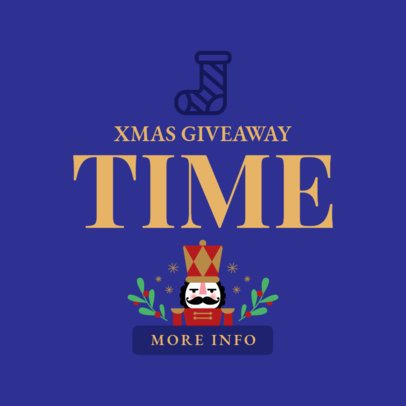 Holiday Banner Maker for a Christmas Giveaway with Nutcracker Graphics 776c