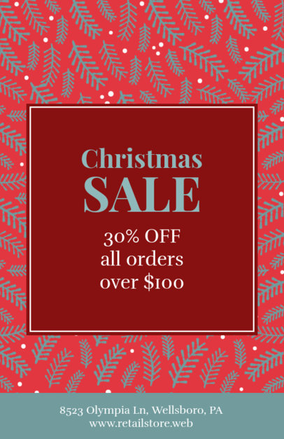 Simple Flyer Design Template for Christmas Sales and Deals 851c