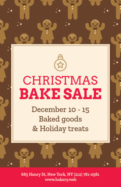 Xmas Flyer Template for a Christmas Bake Sale 851d