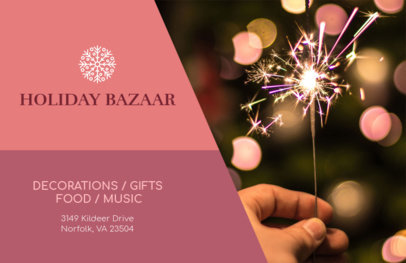 Xmas Flyer Maker for Holiday Markets and Bazaars 865d