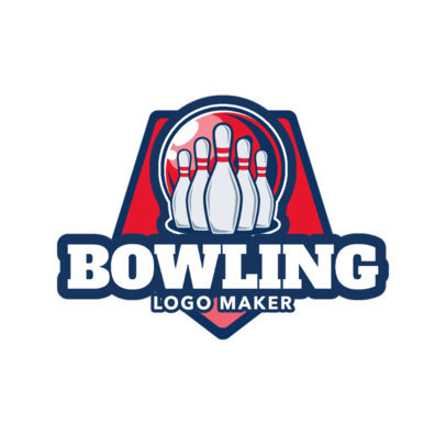 Bowling Logo Maker with Bowling Pins and Ball Graphics 1586