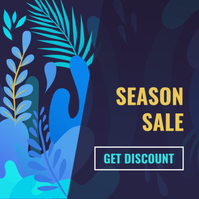 Banner Maker for a Season Sale with Colorful Backgrounds 274c