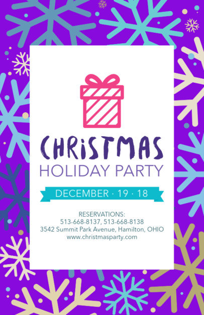 Holiday Flyer for Xmas Party Reservations 848e