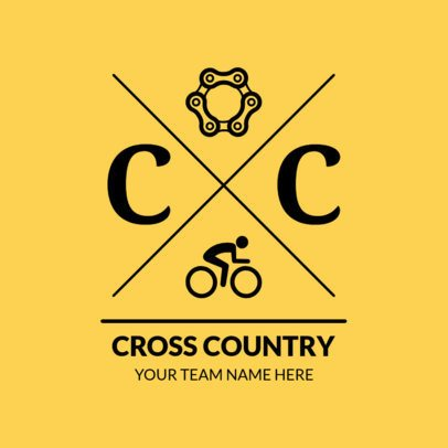 Cross Country Logo Maker with Bicycle Clipart 1568a