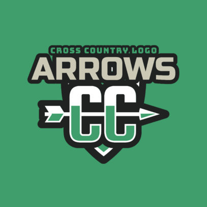 Cross Country Logo Maker with Arrow Graphic 1567a