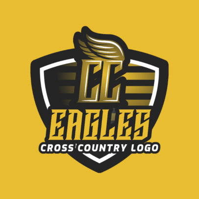 Cross Country Logo Generator with Badge 1567b