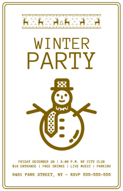 Xmas Flyer Design Maker for Winter Parties 844d