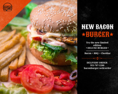 Vinyl Banner Design Maker for a Burger Place 802