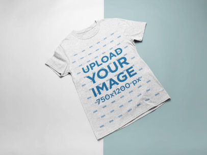Heather T-Shirt Mockup Featuring a Bicolor Surface 24226