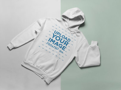 Pullover Hoodie Mockup Featuring a Bicolor Surface 24223