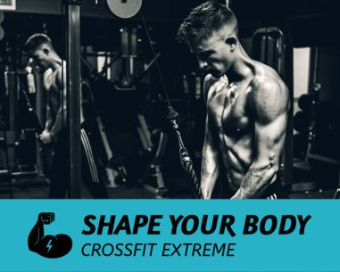 Vinyl Banner Template for Crossfit Centers 791b