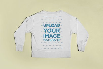 Crewneck Sweatshirt Back Mockup Featuring a Flat Surface 23848