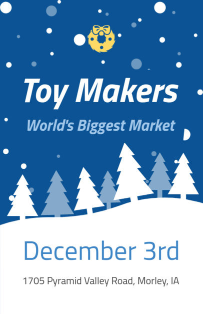 Holiday Flyer Maker for a Christmas Toy Market 862c