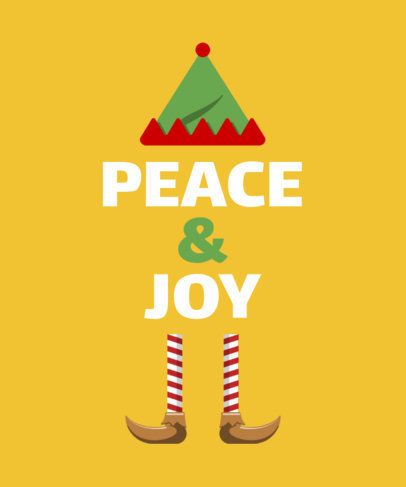 Joyful Christmas T-Shirt Design Creator 829d