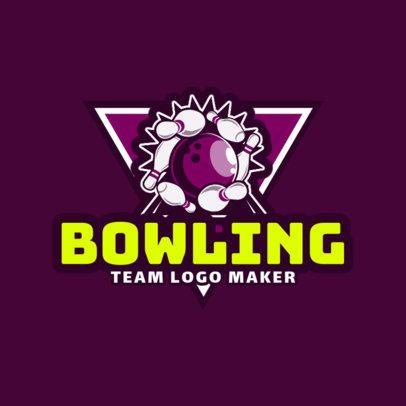 Bowling Logo Creator for Bowling Team 1586a