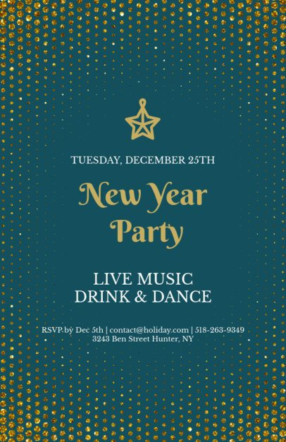 Elegant Holiday Flyer Creator for a New Year's Eve Party 845c