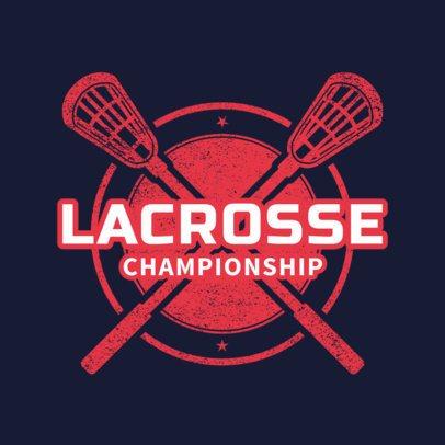 Lacrosse Logo Generator for a Lacrosse Championship 1590c