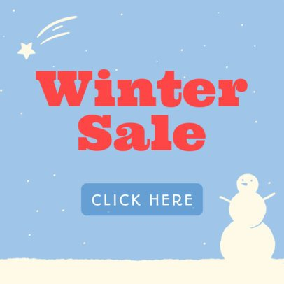 Holiday Banner Template for a Winter Sale 789a