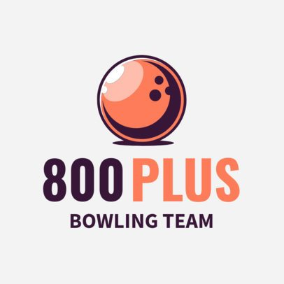 Bowling Logo Creator for a Bowling Team with Bowling Ball Graphic 1587e