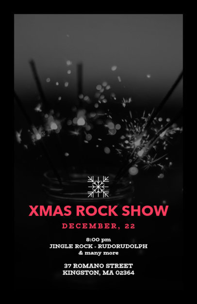 Holiday Flyer Maker for an X-Mas Rock Show 850a