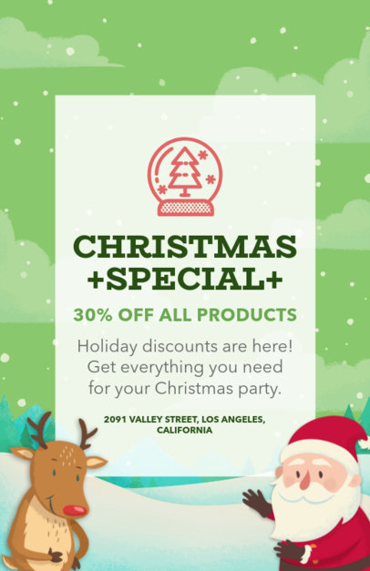 Christmas Sale Flyer Generator with Reindeer and Santa Graphics 852a