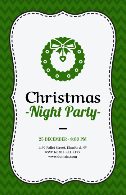 Xmas Flyer Design Template for a Christmas Night Party 847a