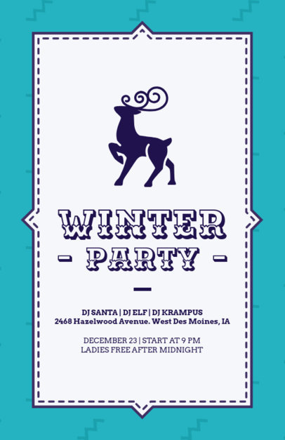 Simple Xmas Flyer Maker with Reindeer Graphics 847c