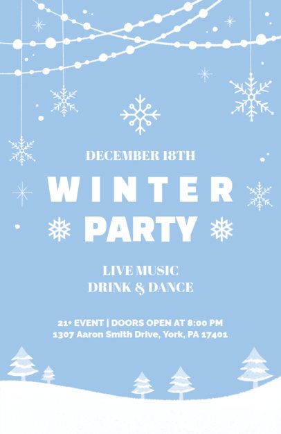 Holiday Flyer Generator for a Winter Party 845b