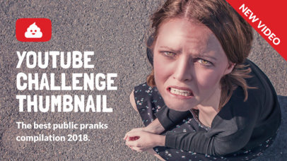 YouTube Thumbnail Template for a Pranks Channel 903