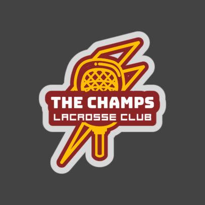 Lacrosse Logo Design Template with a Lacrosse Symbol 1592a
