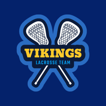 Lacrosse Logo Design Generator with Lacrosse Stick Graphics 1592d