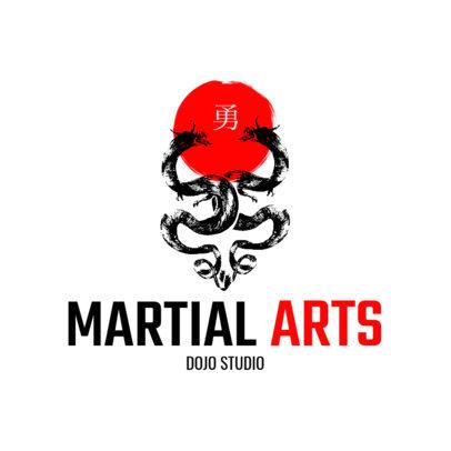 Martial Arts Logo Maker 1605