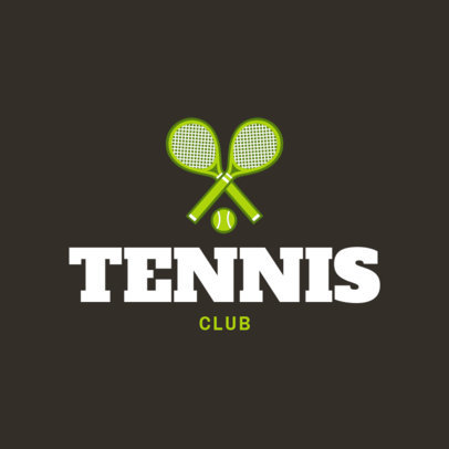 Tennis Club Logo Maker 1601a