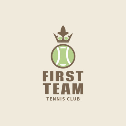 Tennis Logo Generator for a Tennis Team 1601d