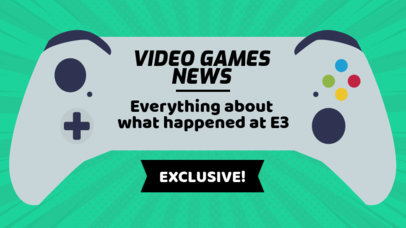 YouTube Thumbnail Designer for a Video Games News Video 886d