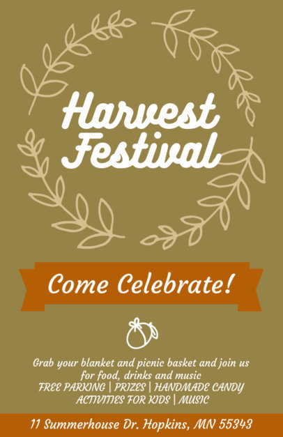 Holiday Flyer Creator for a Harvest Festival 869e