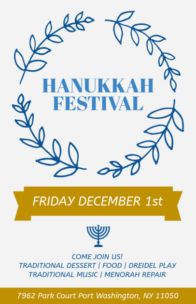 Holiday Flyer Maker for a Hanukkah Festival 869c