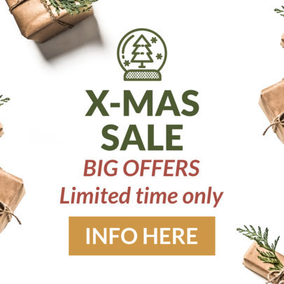 Christmas Banner Template for an X-Mas Sale 788