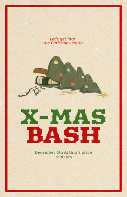 Holiday Flyer Design Template for a Christmas Bash 846a