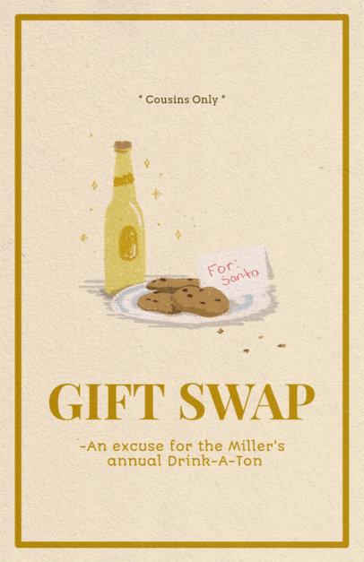 Christmas Flyer Maker for a Family Gift Exchange 846e