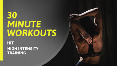 Youtube Thumbnail Template for Workout Tips 899a