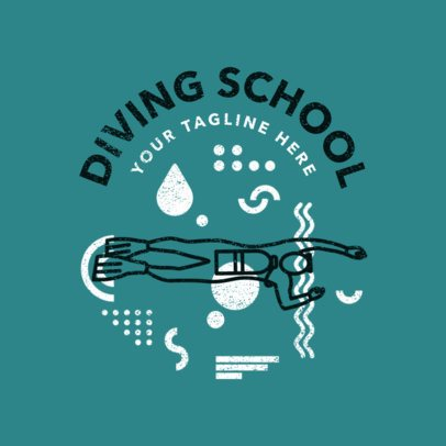 Swimming Logo Maker for a Diving School 1575e