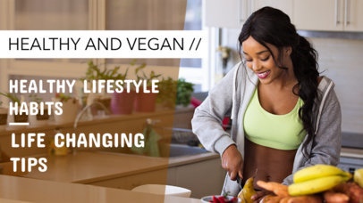 Simple YouTube Thumbnail Design Template for Healthy Lifestyle Vlogs 891a