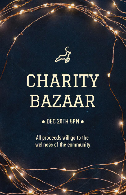 Holiday Flyer Maker for a Christmas Charity Bazaar 866c
