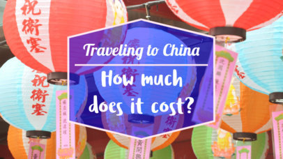 YouTube Thumbnail Creator For a Travel Guide to China 898d