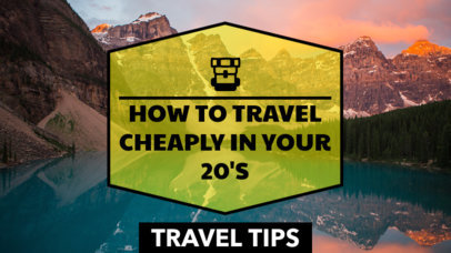 YouTube Thumbnail Maker for Traveling Tips in your 20's 898e