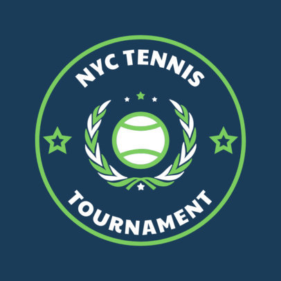 Tennis Logo Design Creator for a Tennis Tournament 1641e