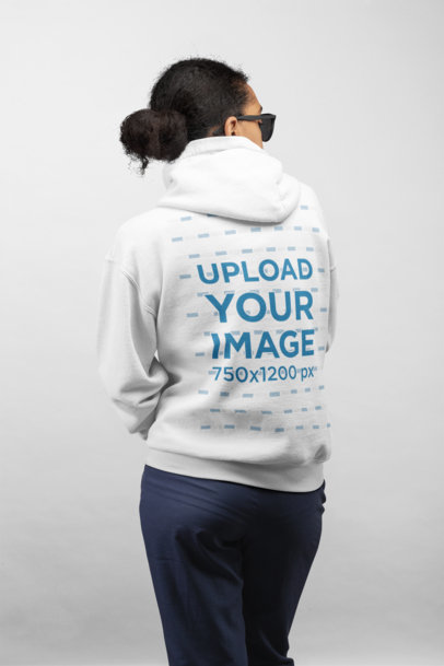 Hoodie Mockup of a Woman in Back View 24295