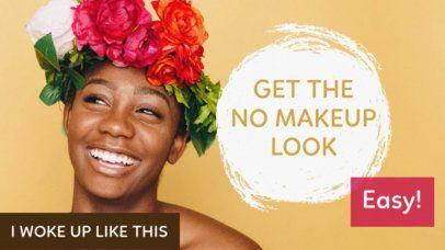 Cute YouTube Thumbnail Maker for a Makeup Look Vlog 883d